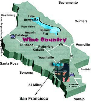 Angwin, Napa Valley California Map